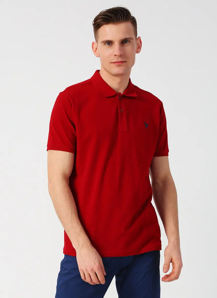 US Polo Shirt Dark Red
