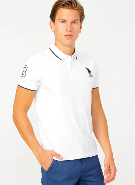 US Polo Shirt White