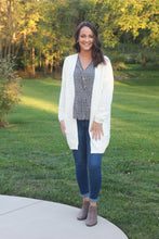 Load image into Gallery viewer, White Cable Knit Cardigan