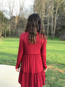 The Stacy | Solid Tiered Babydoll Dress