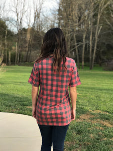 Buffalo Plaid Vintage Truck Tee