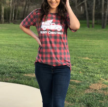 Load image into Gallery viewer, Buffalo Plaid Vintage Truck Tee