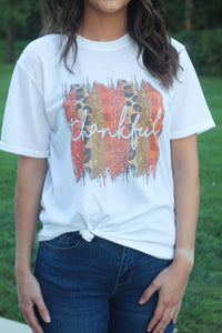 """Thankful"" White Tee"
