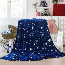 Load image into Gallery viewer, 3 sizes Flannel Blanket Dark Blue Super Soft Warm Solid Warm Micro Plush Fleece Blanket Throw Rug Sofa Bedding Wrap blanket#