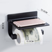 Load image into Gallery viewer, Aluminum Wall Stand Toilet Paper Towel Holder Kitchen Paper Roll Holder Mobile Phone Storage Shelf Tissue Boxes For Bathroom XNC