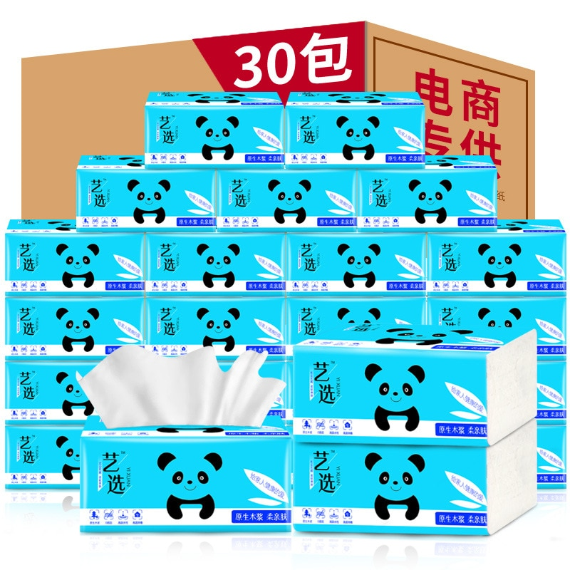 Art selection paper toweling box full of tissue paper toweling toilet paper 30 packs of tissue paper