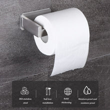Load image into Gallery viewer, No-Drill Self Adhesive Toilet Paper Holder Stainless Steel Bathroom Kitchen Roll Paper Accessory Tissue Towel Rack Metal Holders