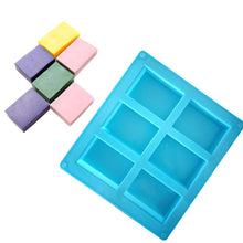 Load image into Gallery viewer, New 6-Cavity Rectangle Soap Mold Silicone Craft DIY Making Homemade Cake Mould 3D Plain Soap Mold Form Tray Baking ToolsC4
