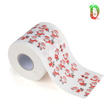 Load image into Gallery viewer, 1Roll Novelty Christmas Tree Santa Claus Elk Pattern Toilet Paper Tissue Napkin Toilet Roll Paper Home Hotel Living Room Supplie