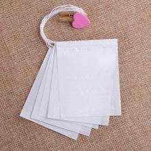 Load image into Gallery viewer, 200 PCS Empty Teabags Storage Bags String Heat Seal Filter Paper Herb Loose Tea Bag Hanging Storage   D2 (White)