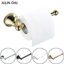 Load image into Gallery viewer, Gold Toilet Paper Holders Black Bronze Wall Mounted Chrome Antique Tissue Hanger White WC Roll Holder for Kitchen Bathroom Hotel