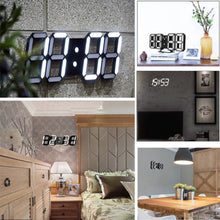 Load image into Gallery viewer, 3D LED Wall Clock Modern Digital Alarm Clocks Display Home Kitchen Office Table Desk Night Wall Clock 24 or 12 Hour Display *1