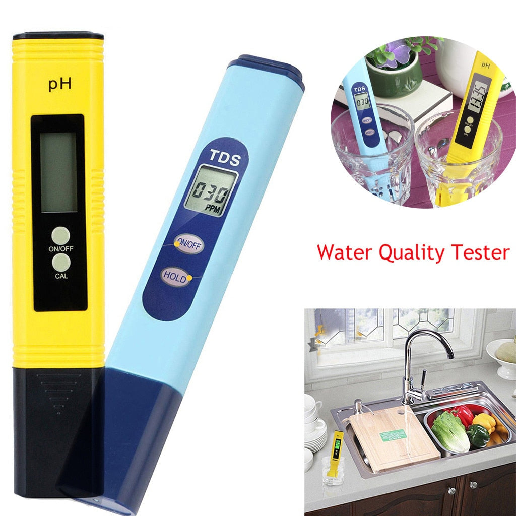 1 Pcs Digital Water Quality Test Meter PH 2 in 1 0-9990 PPM Measurement Range 1 PPM Resolution Temp Tools Accessory *