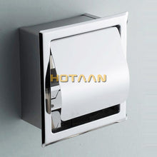 Load image into Gallery viewer, Luxury SUS 304# Stainless Steel Bathroom Toilet Roll Paper Holder Box Concealed Wall Mounted Recessed Wall Embedded YT-1092