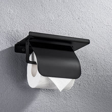 Load image into Gallery viewer, Concise Stainless Steel Roll Paper Holder Wall Mount Toilet Paper Holder with Phone Shelf Bathroom Fixture Bathroom Accessories