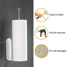 Load image into Gallery viewer, Kitchen Self-adhesive Accessories Under Cabinet Paper Roll Rack Towel Holder Tissue Hanger Storage Rack For Bathroom Toilet#30