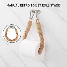 Load image into Gallery viewer, Vintage Towel Hanging Rope Toilet Paper Holder Home Hotel Bathroom Decorating Supplies