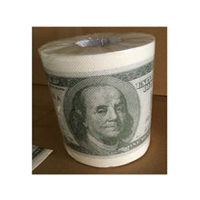 Load image into Gallery viewer, Funny 100 US Dollars or donald trump Toilet Paper, Novelty Roll Toilet Paper,Birthday Party Gag Gift - Prank toilet paper rolls