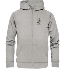 Lade das Bild in den Galerie-Viewer, SAS-29051 Zip-Hoodie #bio #druck #front-klein #back-gross