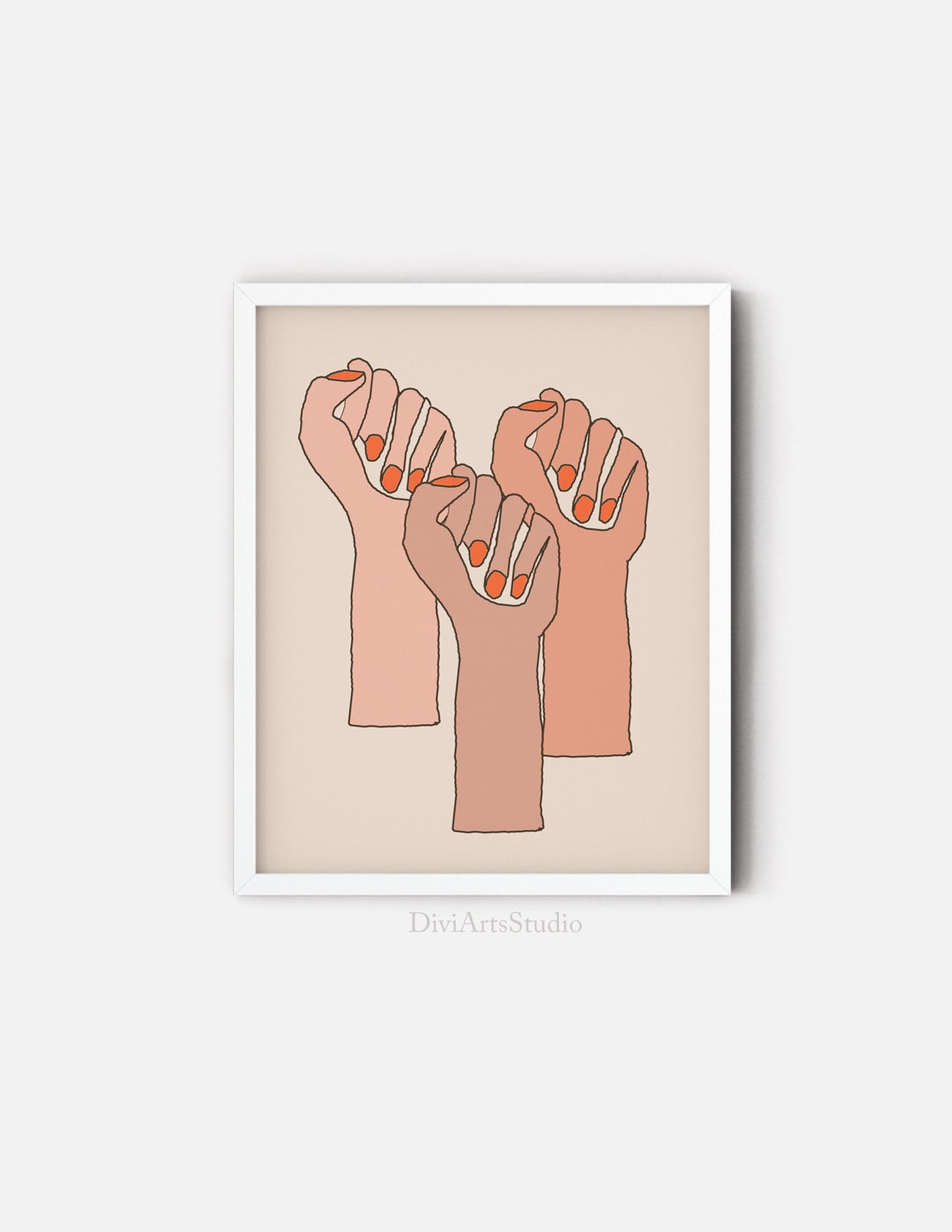 Feminist Wall Art, Bold Girl Power Print