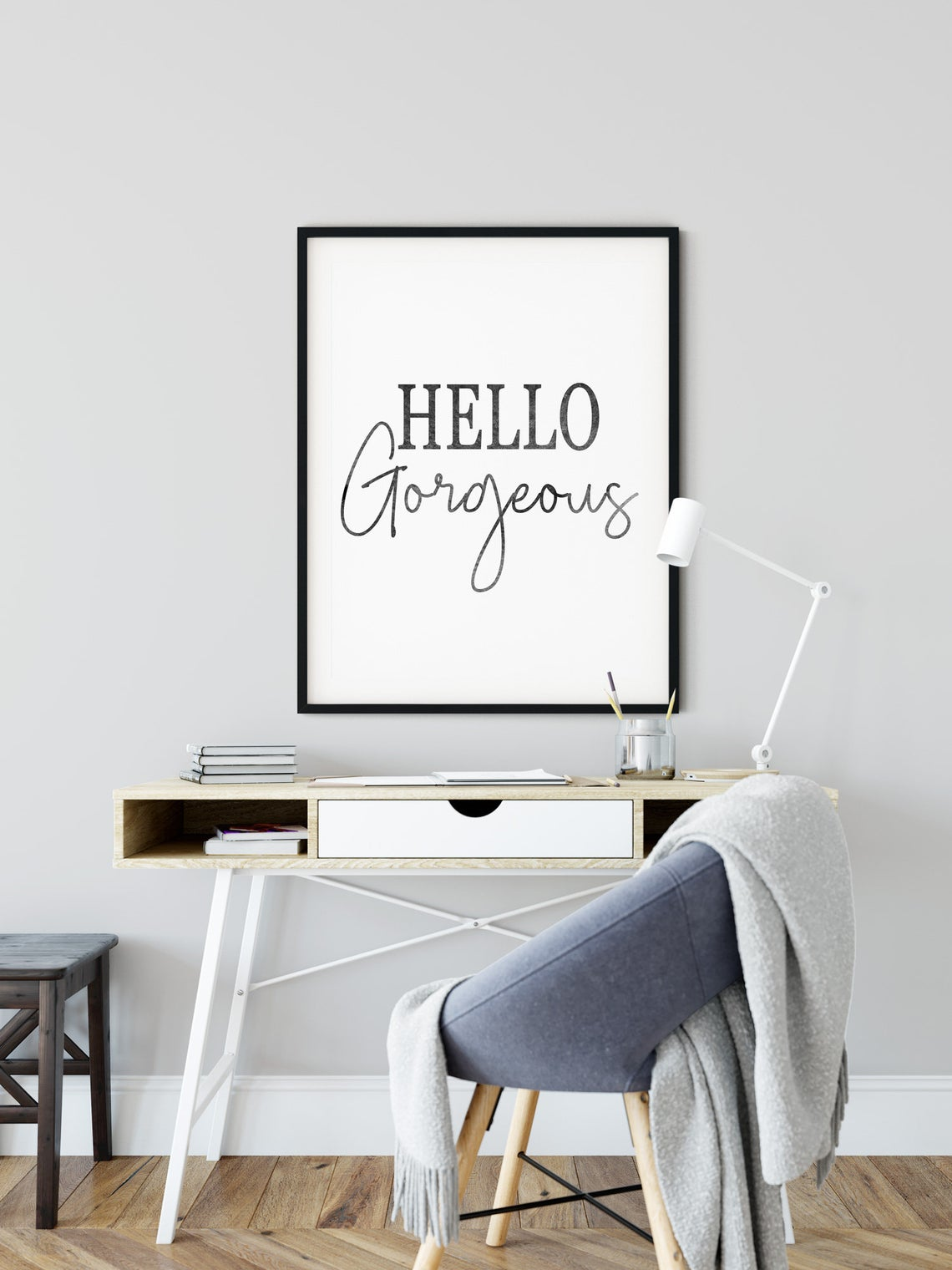 Positive Quotes Poster, Hello Gorgeous Print