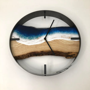 "14"" Life's a Beach Live Edge Ash Wood Wall Clock"