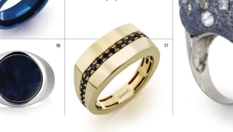 Black Diamond and Yellow Gold Men's Ring