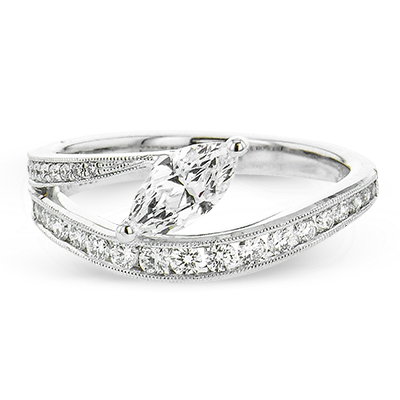 Lightning Bolt Engagement Ring LR2823