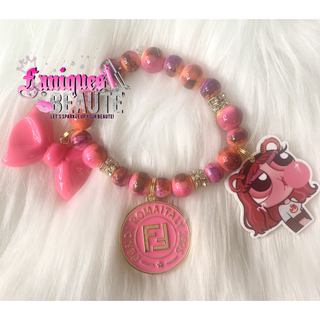 Bubblelicious ~ Children's Beaded Stretch Bracelet - Faniques Beaute Emporium