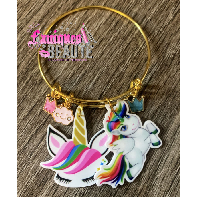 Flying Unicorn ~ Children's Bangle - Faniques Beaute Emporium