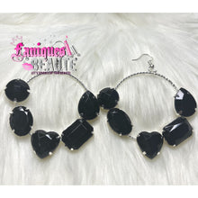 Load image into Gallery viewer, Gemstones Galore Black ~ comes in silver and gold - Fashion