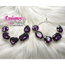 Load image into Gallery viewer, Gemstones Galore Dark Purple ~ comes in silver and gold -