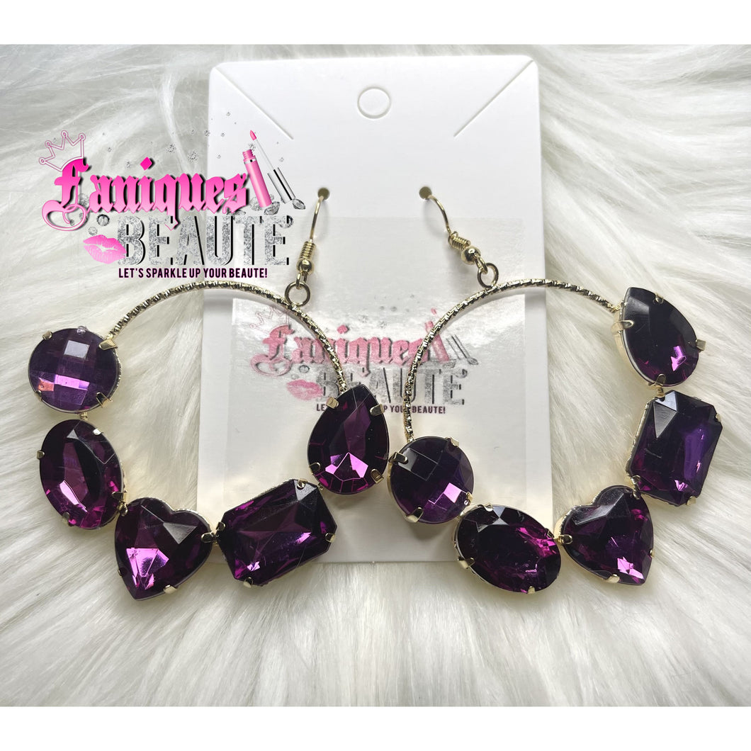Gemstones Galore Dark Purple ~ comes in silver and gold -
