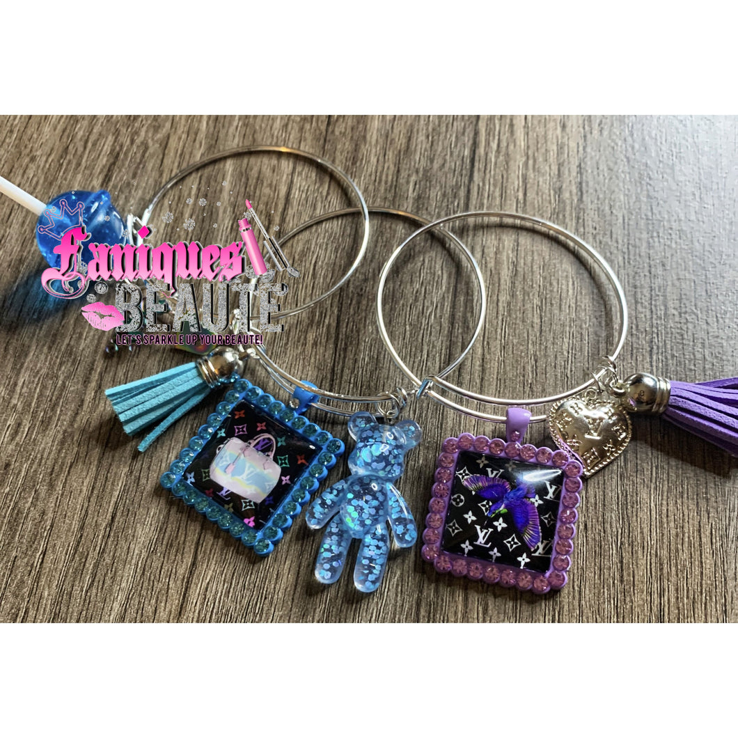 Iridescent Boss Chick ~ Adult Adjustable Bangle Set - Faniques Beaute Emporium