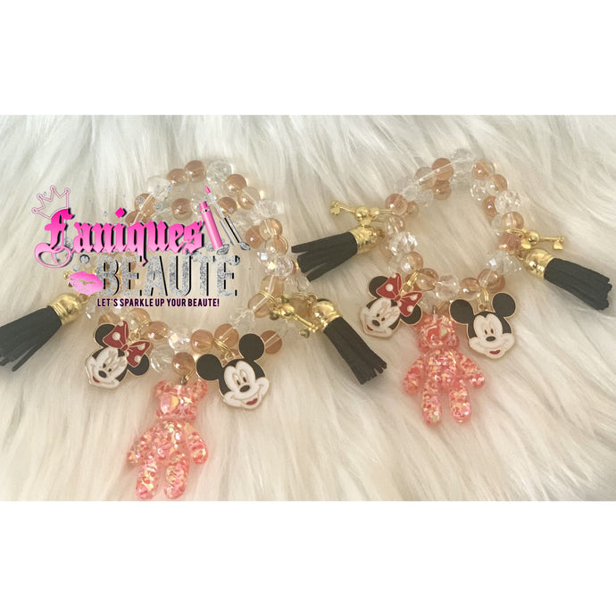 Minnie/Mickey Mommy & Me Set - Beaded bracelet