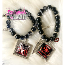 Load image into Gallery viewer, *On Sale* CeeCee Nightmare ~ Adult Stretched Beaded Bracelet Set - Faniques Beaute Emporium
