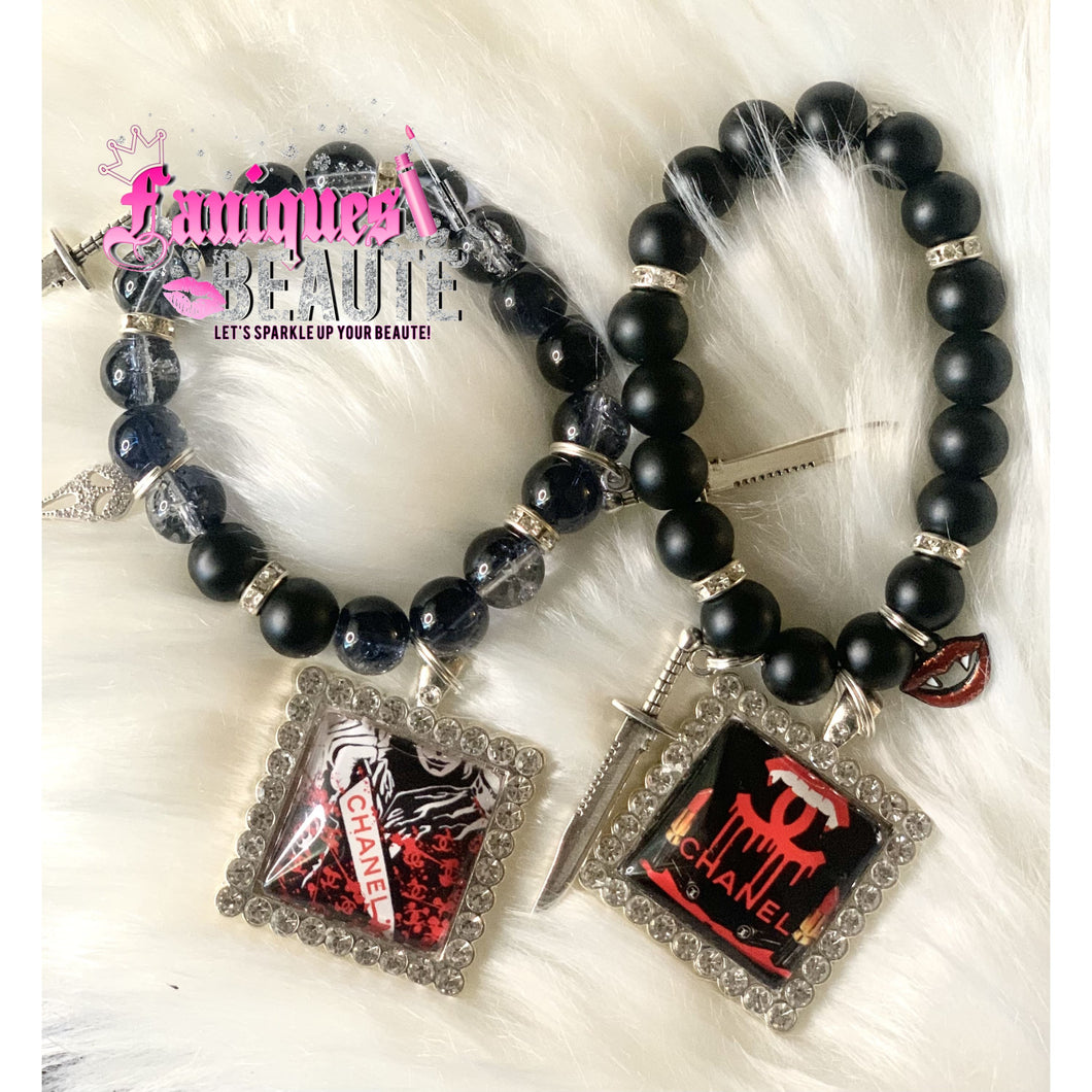 *On Sale* CeeCee Nightmare ~ Adult Stretched Beaded Bracelet Set - Faniques Beaute Emporium