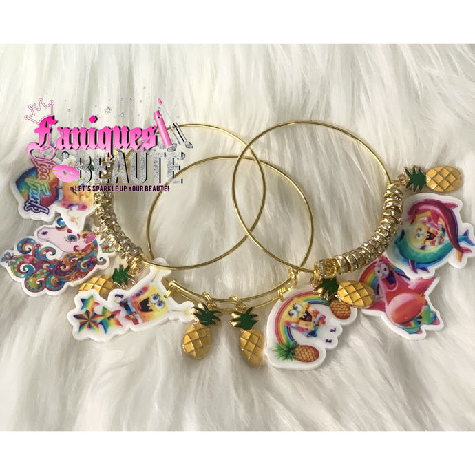 Pineapple Under the Sea ~ Children's Bangle Set - Faniques Beaute Emporium
