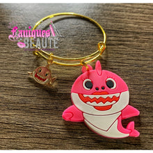 Load image into Gallery viewer, Pinkkkk Shark ~ Children's Bangle - Faniques Beaute Emporium