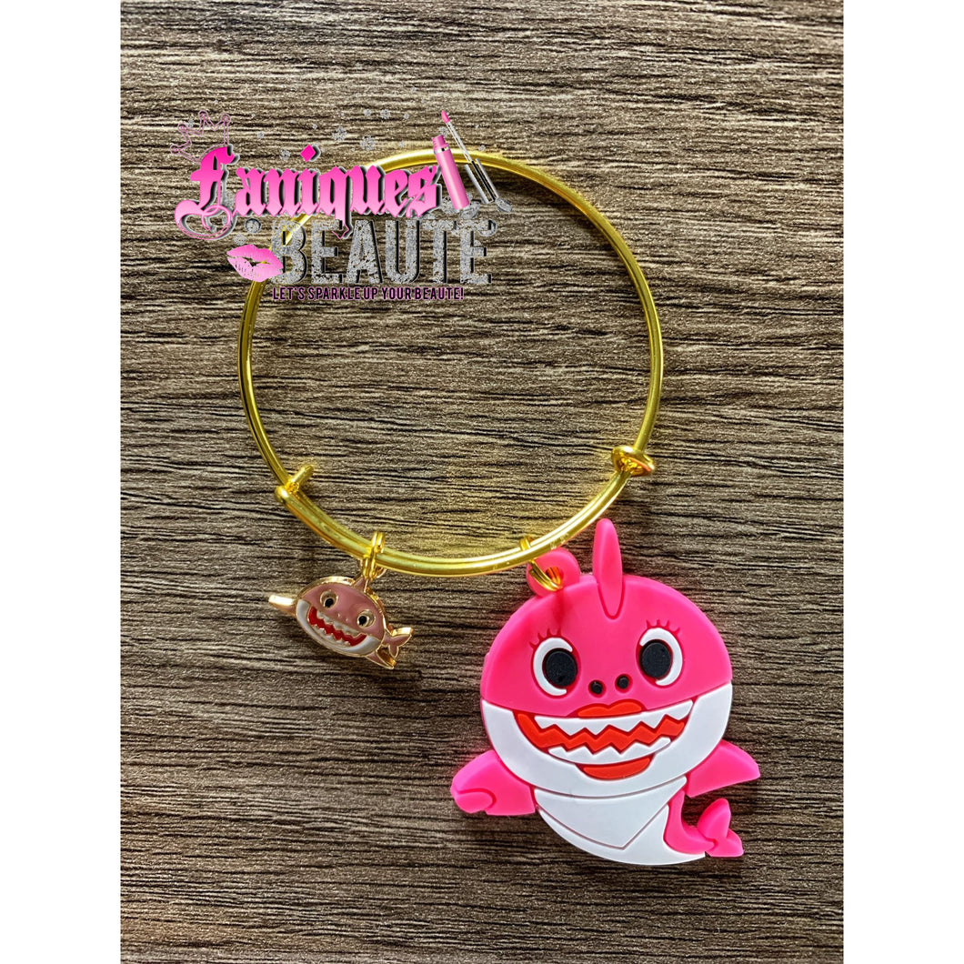 Pinkkkk Shark ~ Children's Bangle - Faniques Beaute Emporium