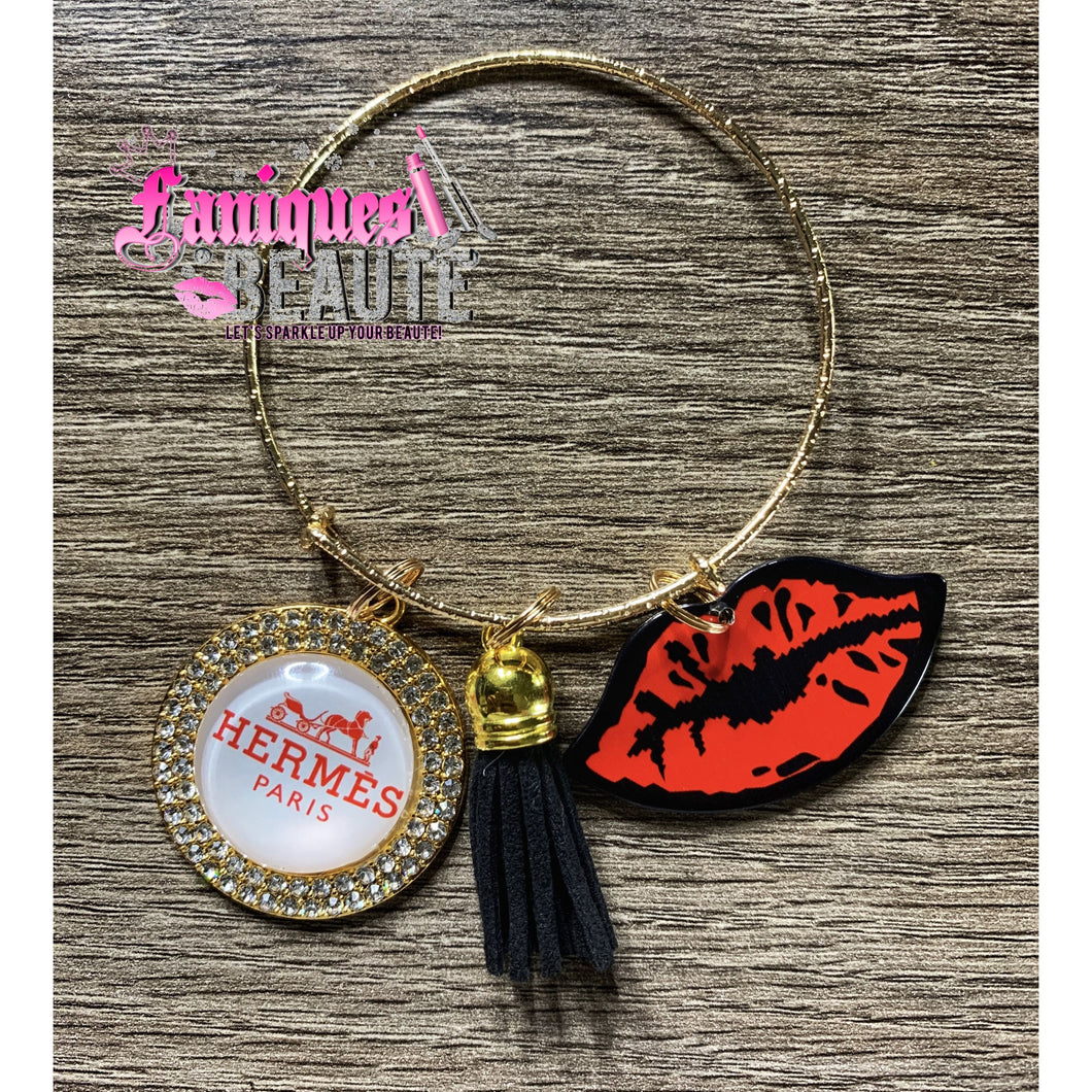 Red Kisses ~ Adult Adjustable Bangle - Faniques Beaute Emporium
