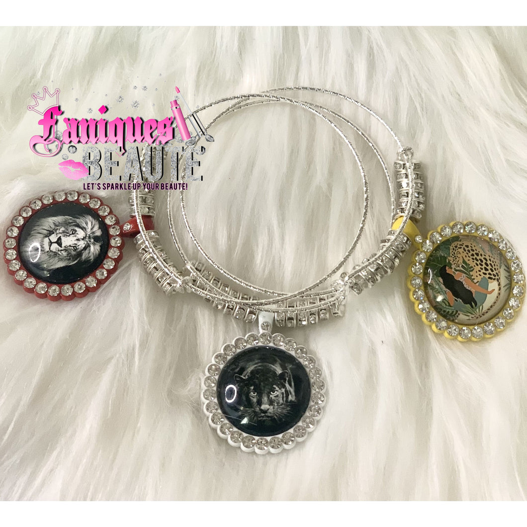 Safari Adventure ~ Adult Adjustable Bangle Set - Faniques Beaute Emporium