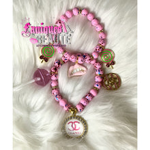 Load image into Gallery viewer, Sucker Madness ~ Adult Stretch Beaded Bracelet Set - Faniques Beaute Emporium