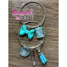 Load image into Gallery viewer, Teal Bling ~ Children's Bangle Set - Faniques Beaute Emporium
