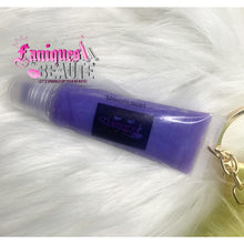 Load image into Gallery viewer, Unicorn Swirl w/ Pom Pom Keychain - Kids Lip Gloss
