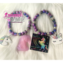 Load image into Gallery viewer, Unicorn Vibes ~ Children's Beaded Stretch Bracelet - Faniques Beaute Emporium