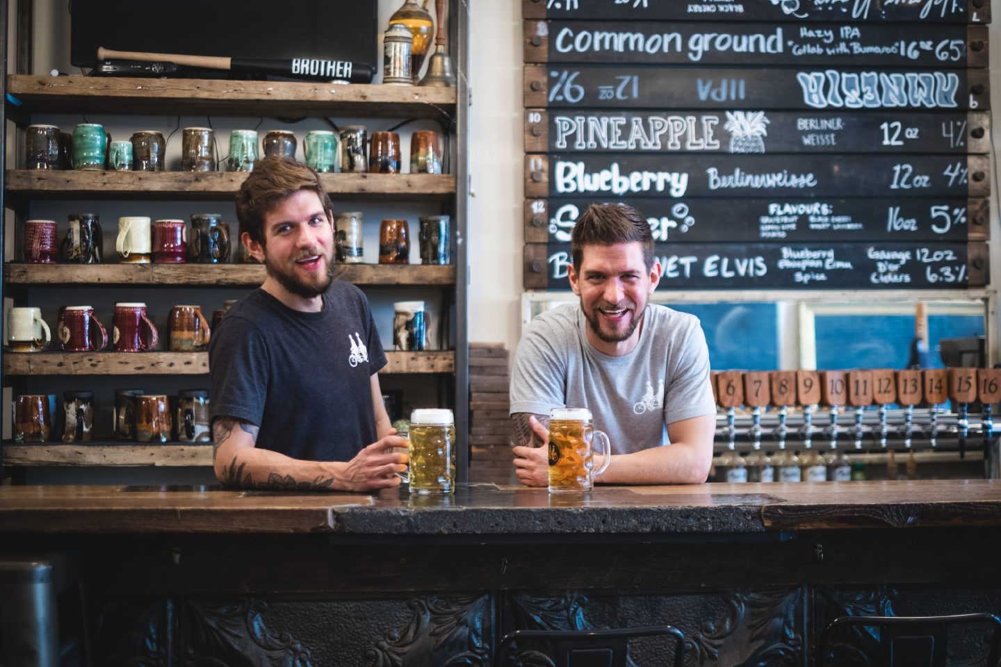 The brothers behind the bar in December 2020