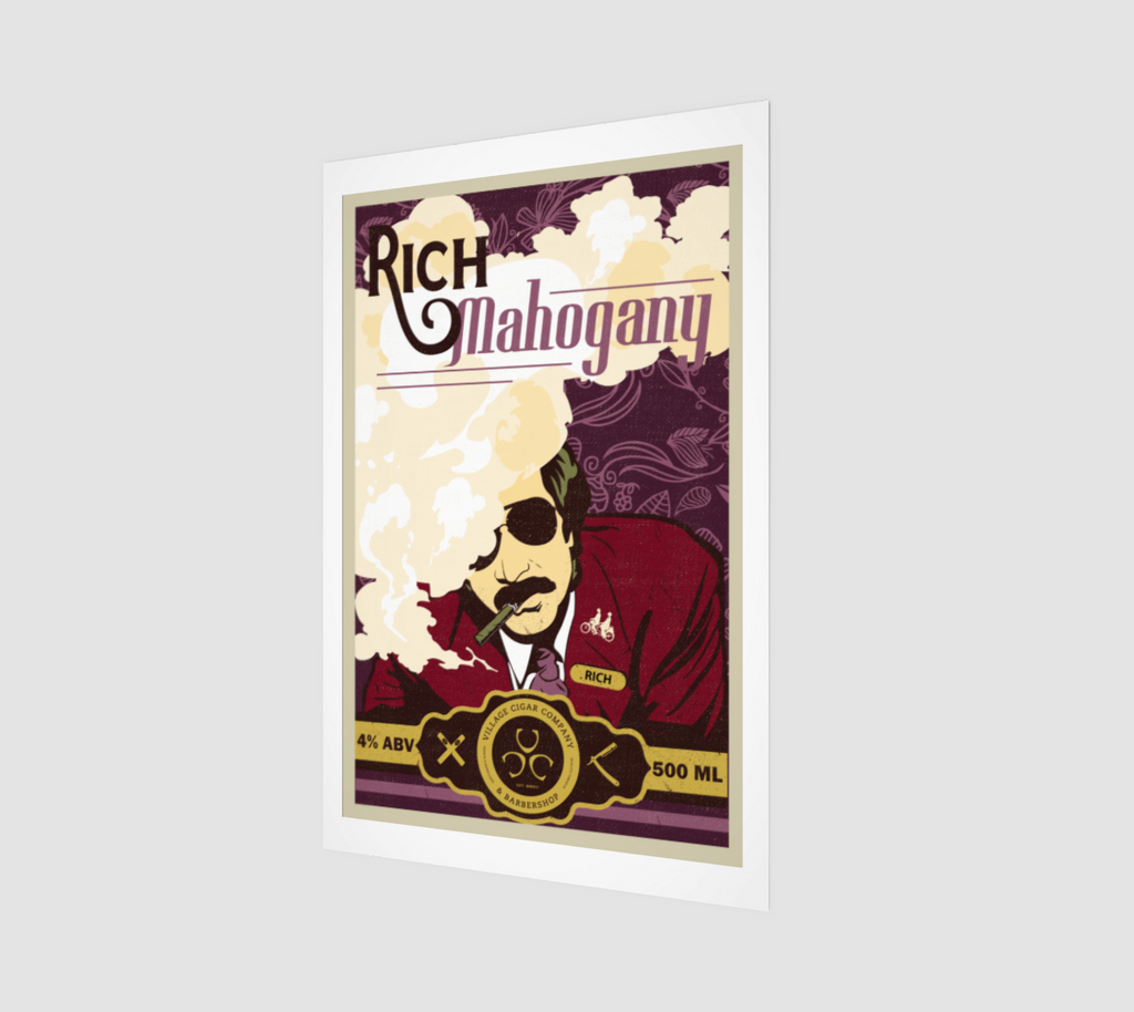 Rich Mahogany Red Ale Fine Art Print