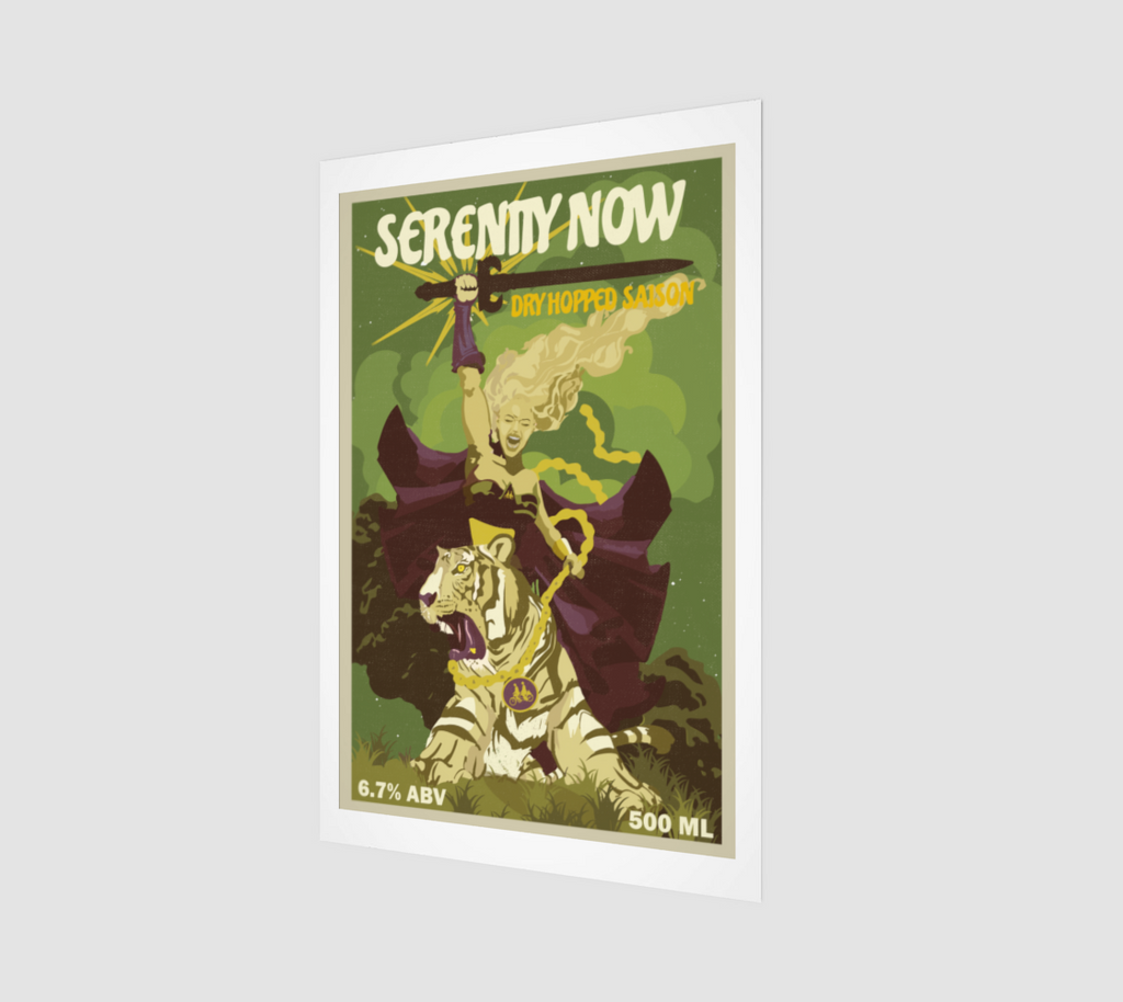 Serenity Now Dry-Hopped Saison Fine Art Print