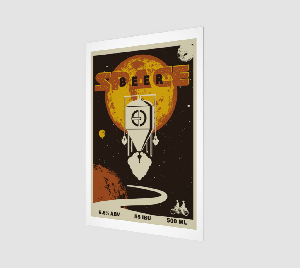 Space Beer Black IPA Fine Art Print